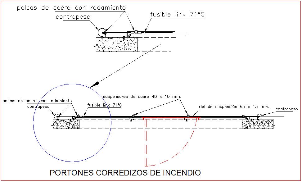 Door design with view of fire slides