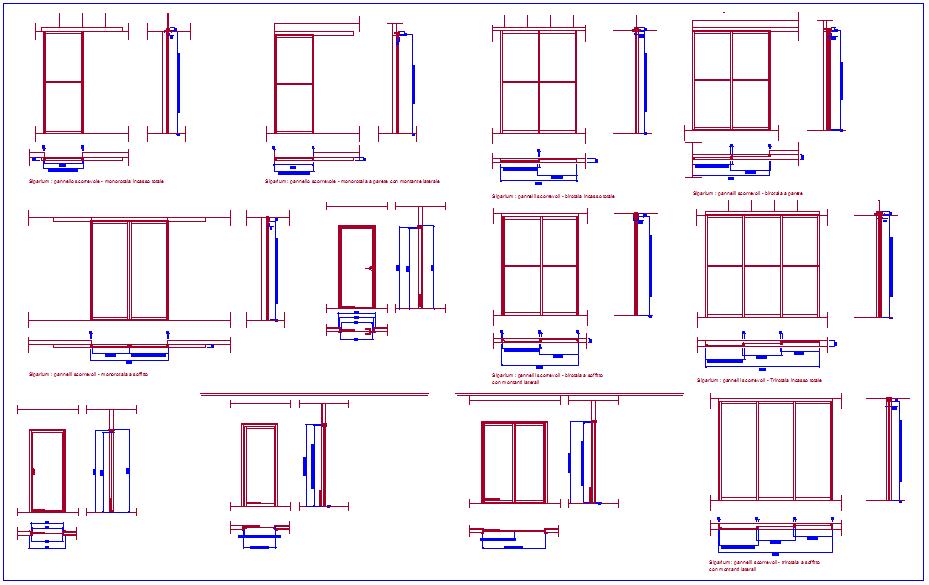 Door plan and elevation view