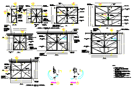 Doors and folding gates steel design drawing