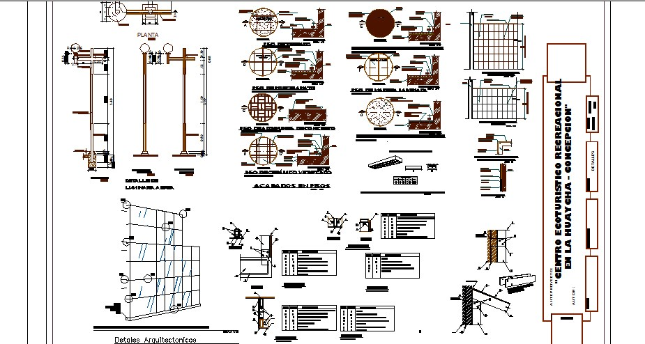 Doors and windows installation details of hotel building dwg file