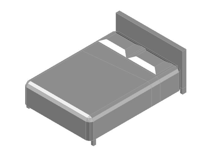 Double bed 3d details