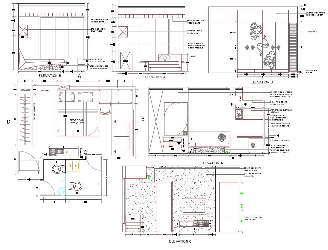 Bedroom Furniture Layout Plan