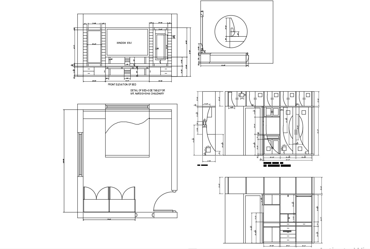 Download Bedroom Furniture layout AutoCAD Drawing
