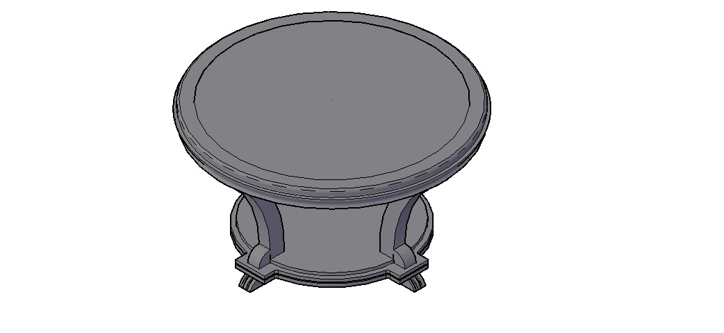 Download Free Center Table 3D Model In DWG File