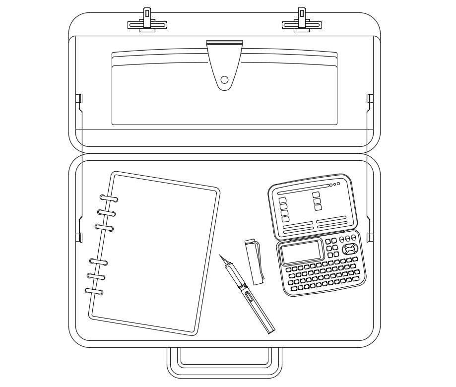Download Free Office Bag DWG File