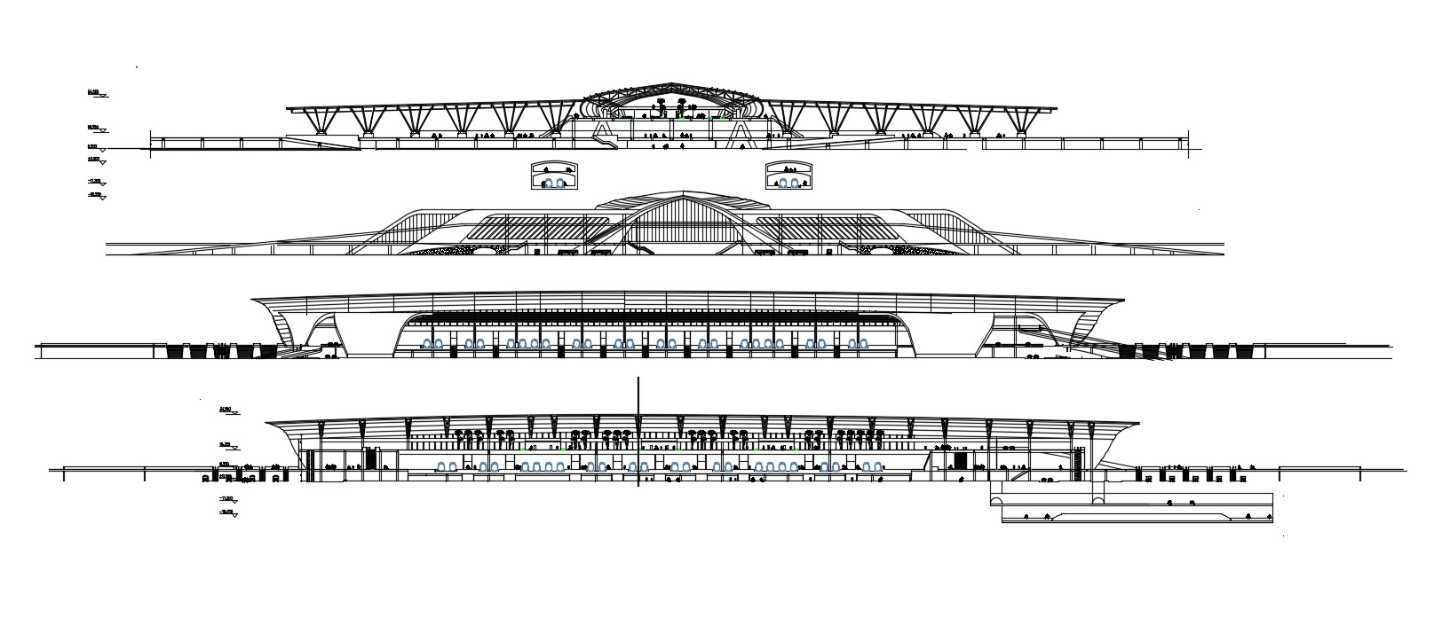 Download Modern Elevation Of Stadium AutoCAD File