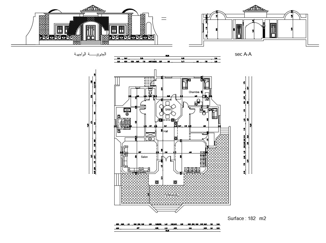 Download Modern House AutoCAD Drawing