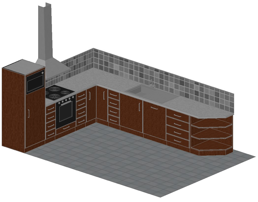 download modular kitchen cad drawing  cadbull
