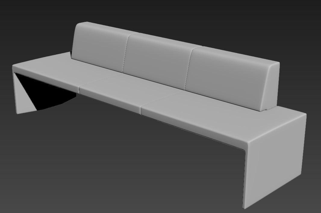 Download Sofa Set 3 Seater 3D MAX File Free