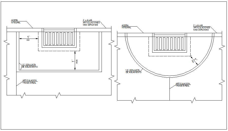 Drain inlet detail dwg file