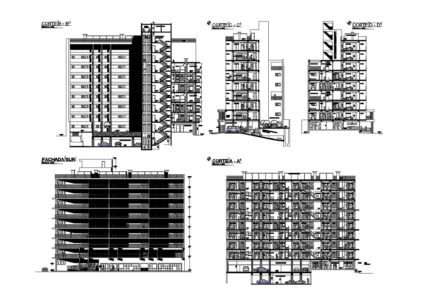 Drawing Multistorey Residential Building