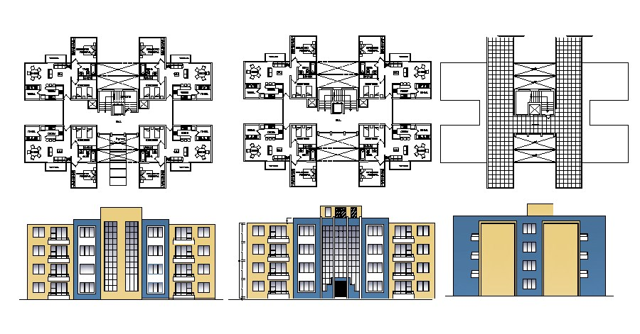 Apartment Elevation Drawings AutoCAD Drawings