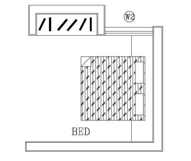Drawing of bed in autocad