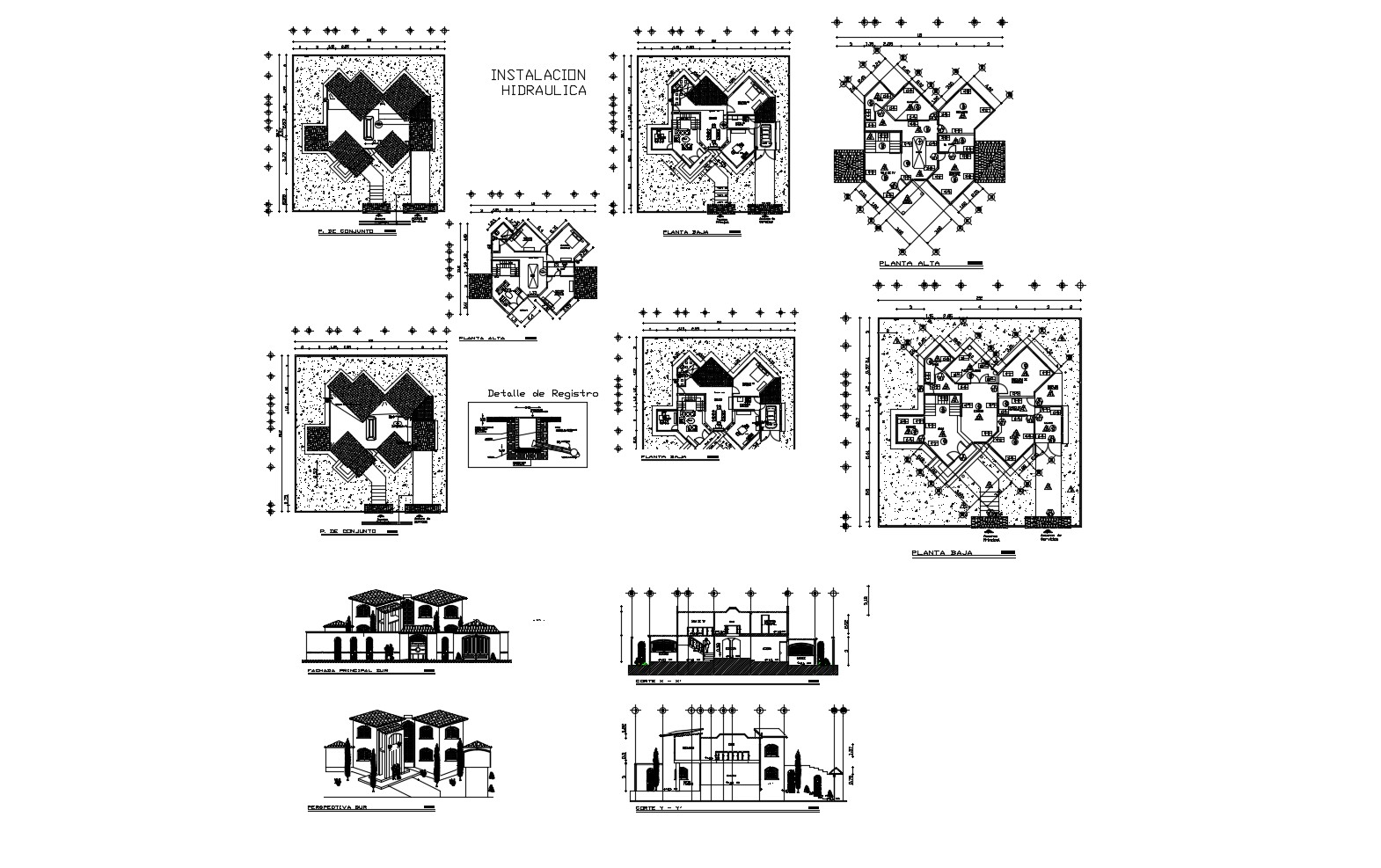 Modern House Drawing In AutoCAD File