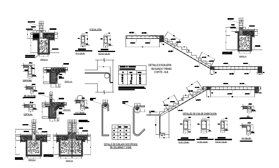 Foundation plan cad drawing dwg file