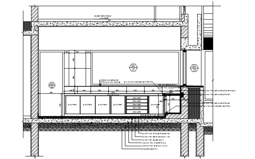 Kitchen Design Drawing In AutoCAD File