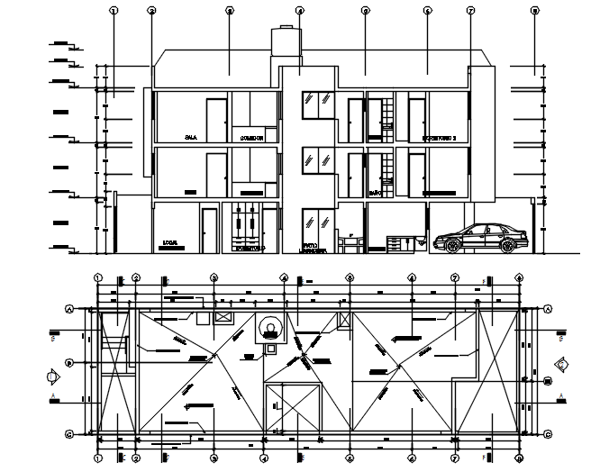 Drawing of the apartment in dwg file