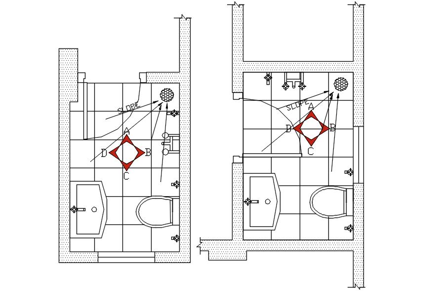 Bathroom Plan In DWG File