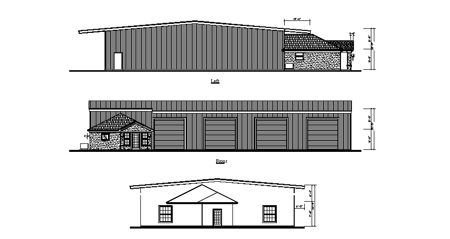 Drawing of the bungalow in dwg file