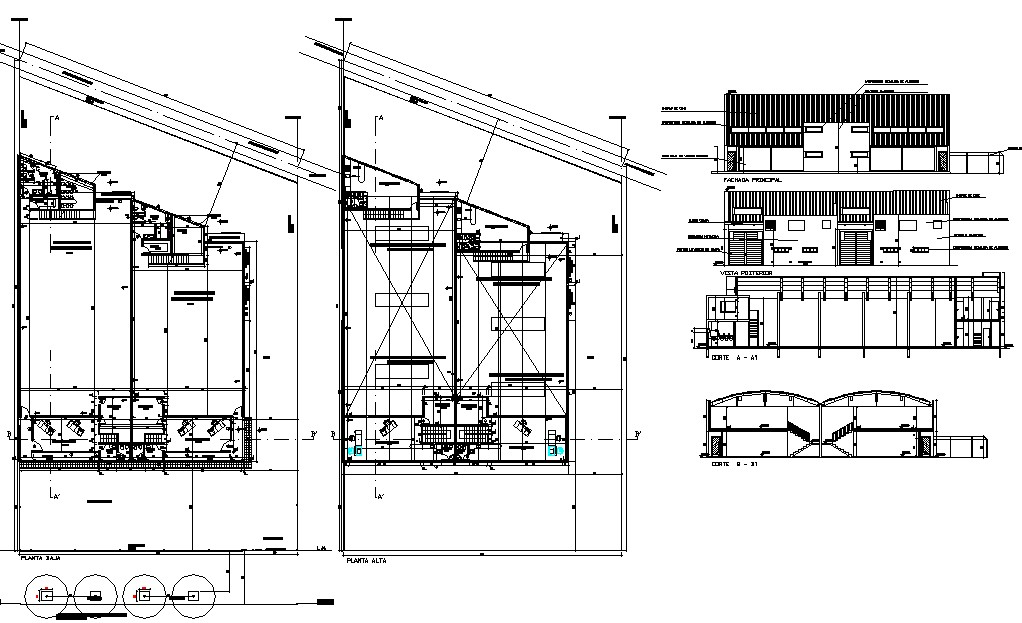 Factory drawing in AutoCAD