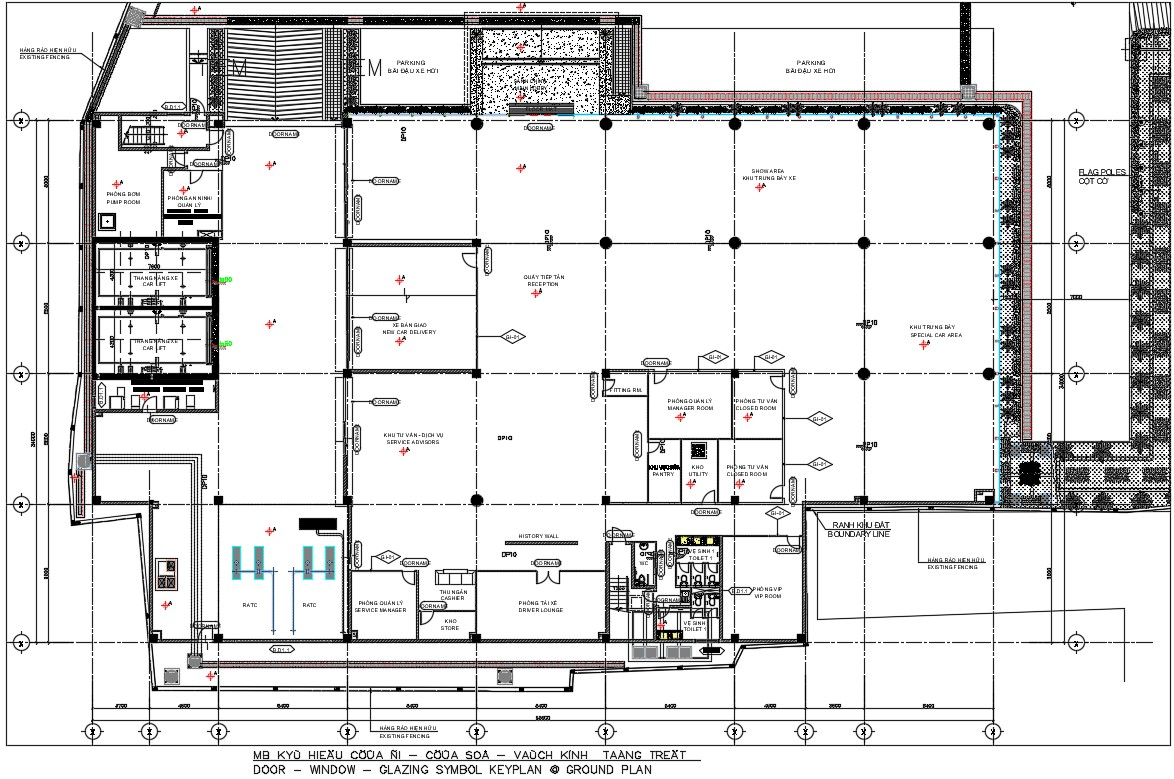 Key plan drawing in AutoCAD file