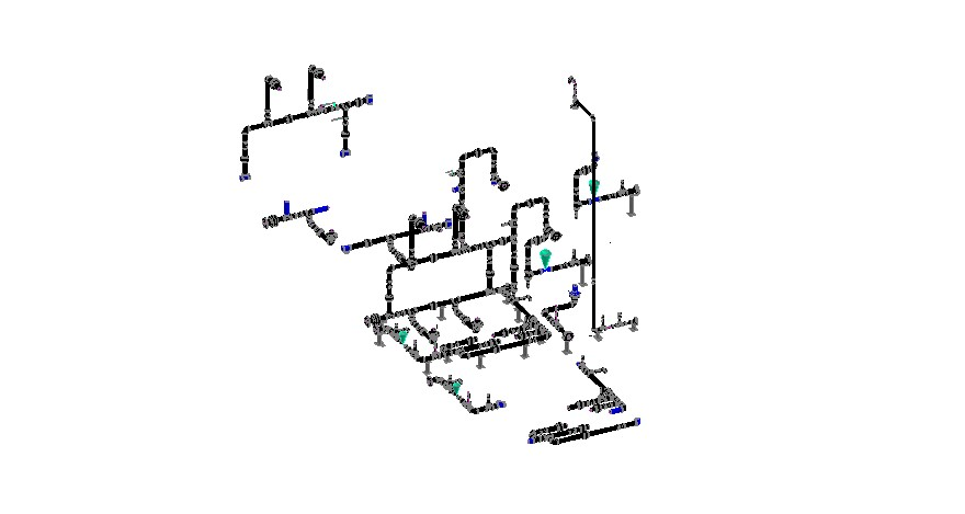 Drawing of water utilities in autocad