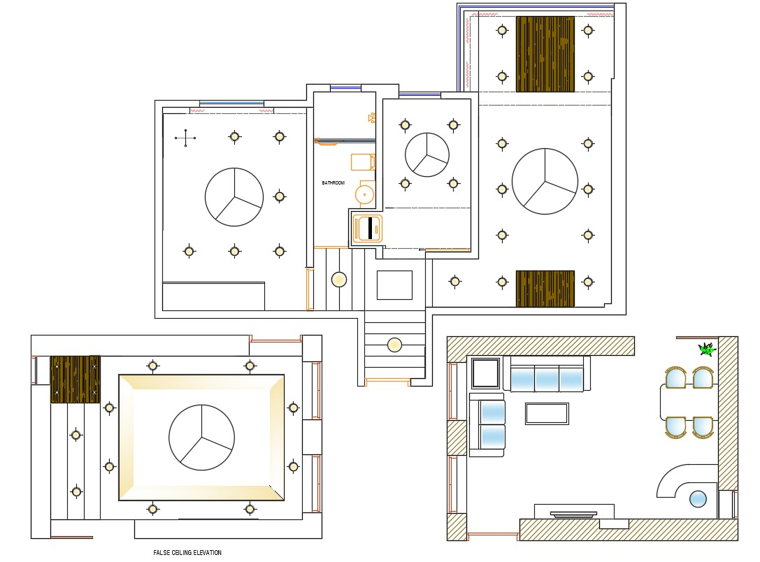 Drawing Room Plan And Ceiling Design Autocad File Download