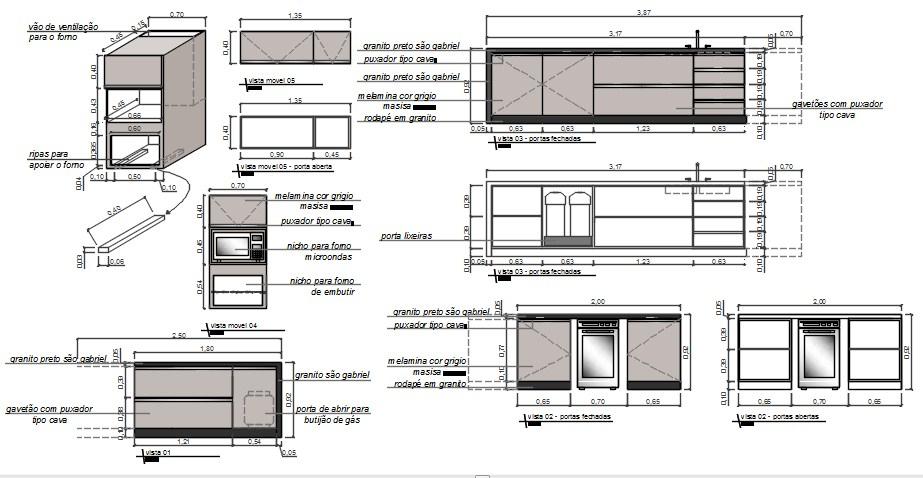 Kitchen Blocks In AutoCAD File