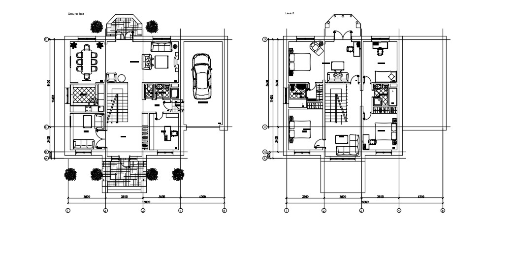 Duplex House Floor Plan In DWG File