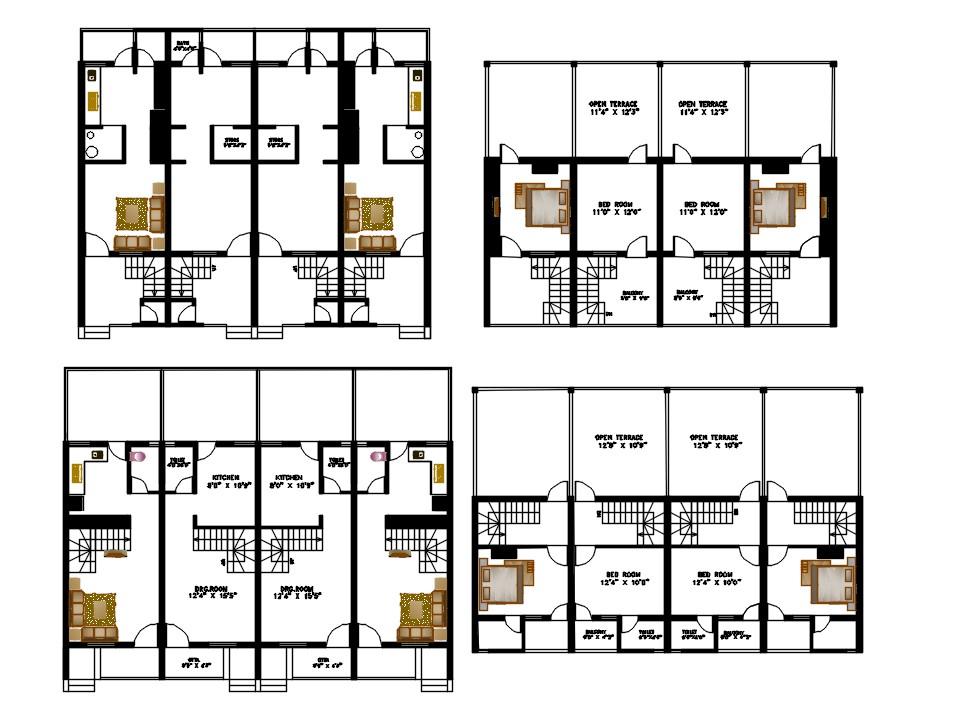Duplex House Plan DWG File