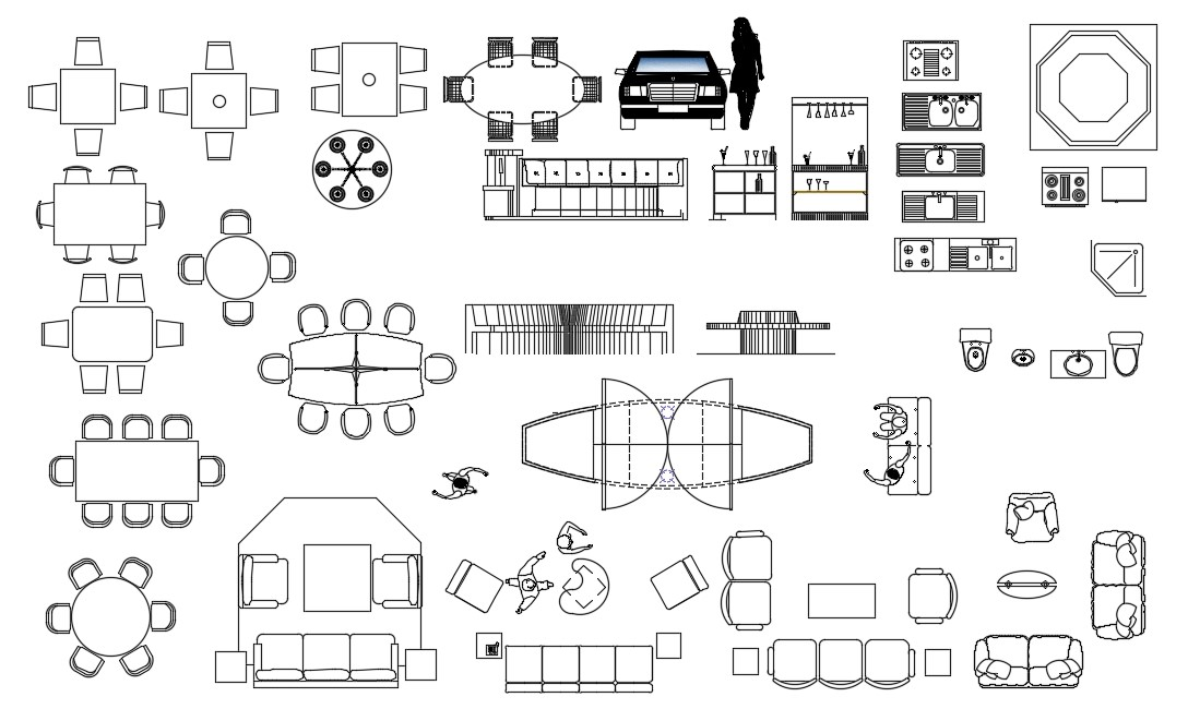 furniture cad blocks