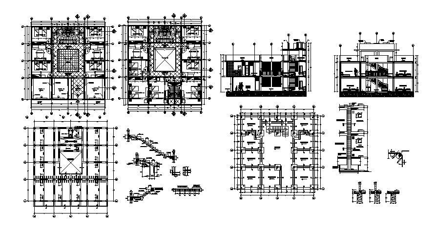 Dwg file of residential house with elevations