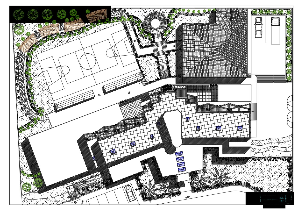 Dwg file of roof plan