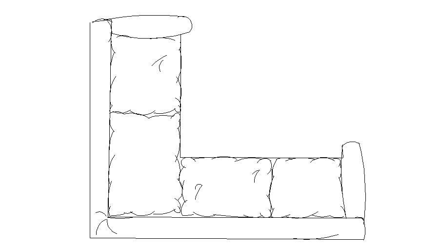 Dynamic single sofa set block top view elevation dwg file