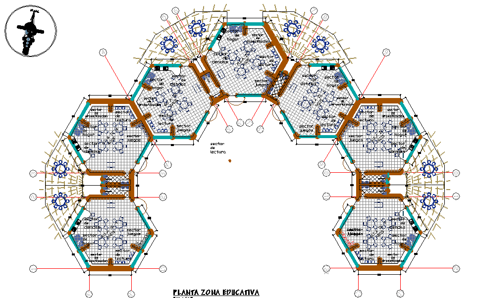 Early  education center plan dwg file