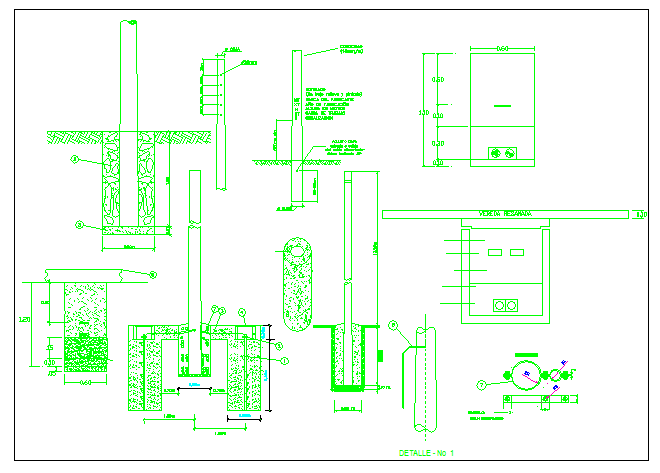 Educational building planning structure details dwg file