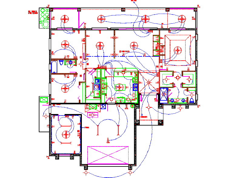 Electric Lay-out Design in CAD file