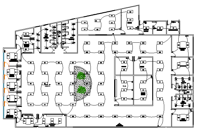 Electric installation details of corporate office dwg file