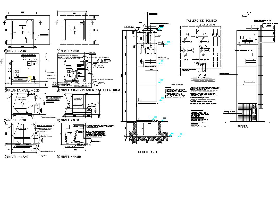 Electric layout plan detail dwg file