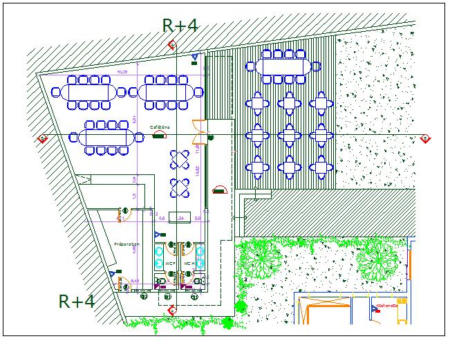Electric plan layout detail view dwg file