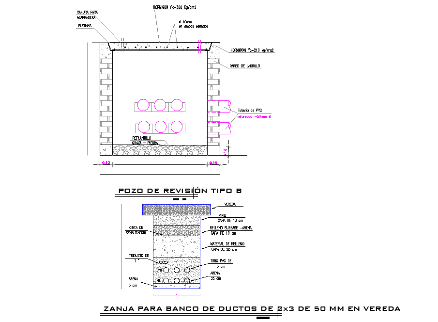 Electric well type by zanja autocad file