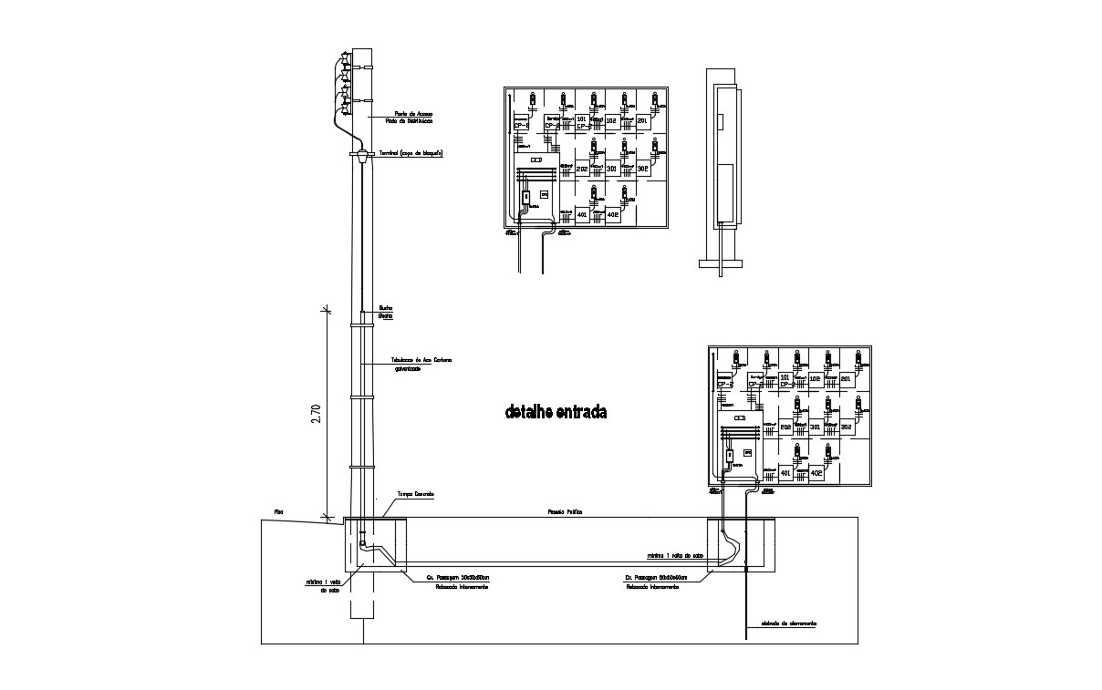 Electrical Pole AutoCAD Drawing
