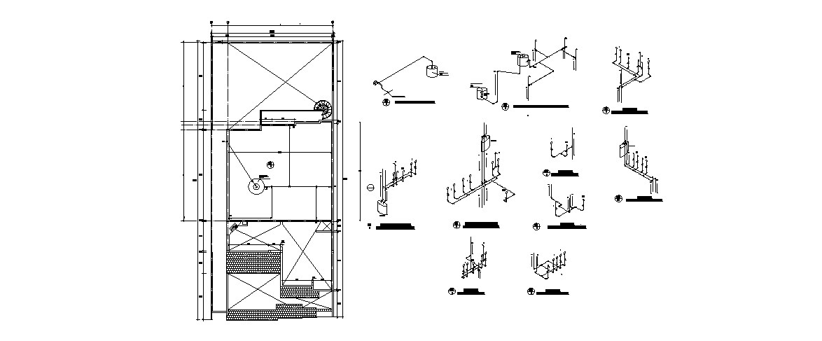 Electrical diagram and installation cad drawing details dwg file on