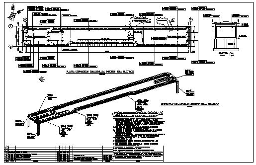 Electrical escalator design drawing