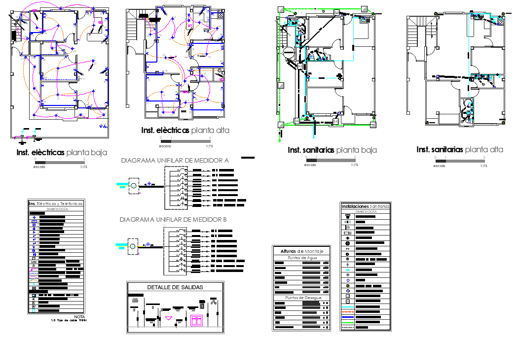 Electrical home plan autocad file