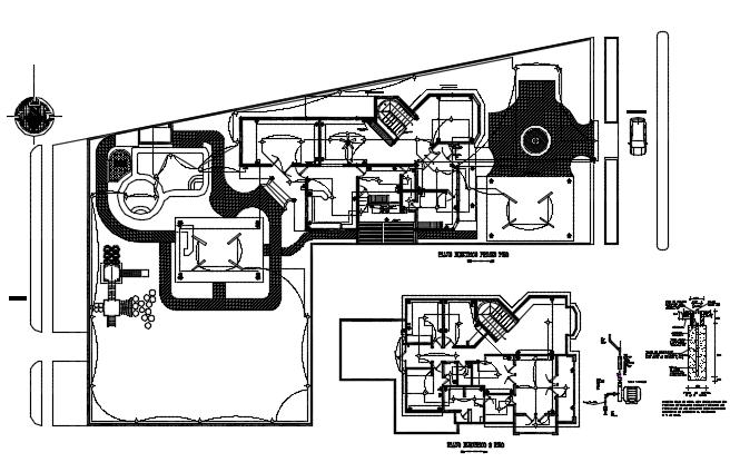 Electrical house plan detail dwg file