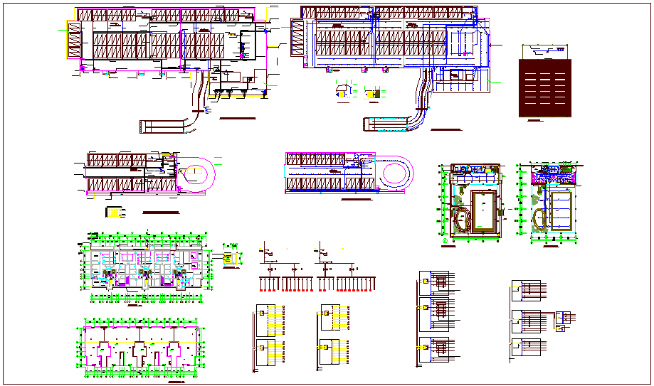 Electrical installation with its legend of plan dwg file