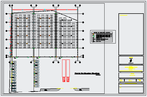 Electrical layout design drawing of Industrial plant.