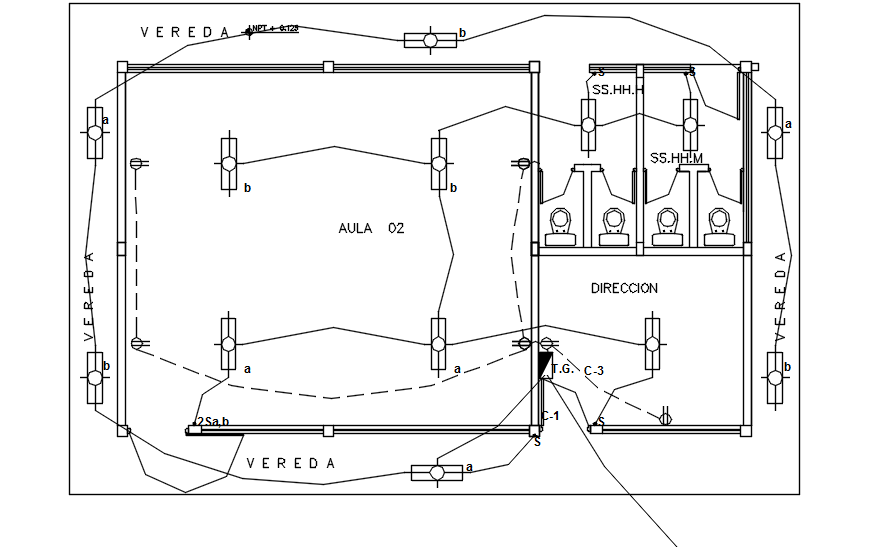 Electrical layout in dwg file