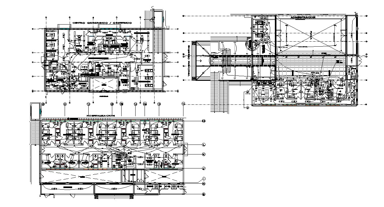 Electrical layout of hotel in dwg file